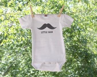 Little Man Moustache Infant Bodysuit  TR