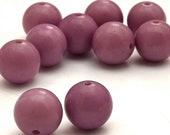 Vintage Lucite Semi Matte Lavender Round 12mm Beads