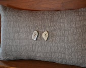 Croc Print Pillow Cover in Taupe/Grey