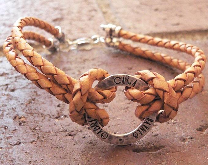 Rustic Men's Sterling and Latigo Bracelet - Sterling & Leather