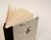 Hand Bound Journal with Sable Dictionary Illustration