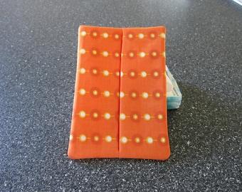 Tissue Holder (Couvre paquet mouchoir)  - Polka Dots Orange