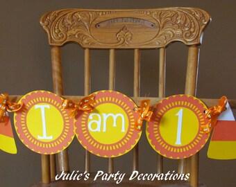 Candy Corn High Chair Banner
