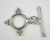 Sterling Silver Bali Style Toggle