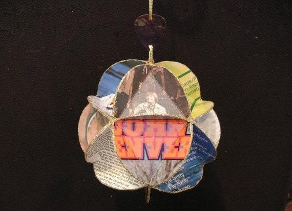 John Denver Album Cover Ornament Made Of Record Jackets