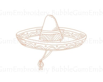 Redwork Fancy Hats Embroidery Designs Instant Download