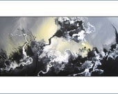 """20% OFF SUPER SALE.  Abstract Painting. Free Shipping. Modern Art. Original Painting. Large 36"""". Title """"Turbulence"""" by Renae Schoeffel"""