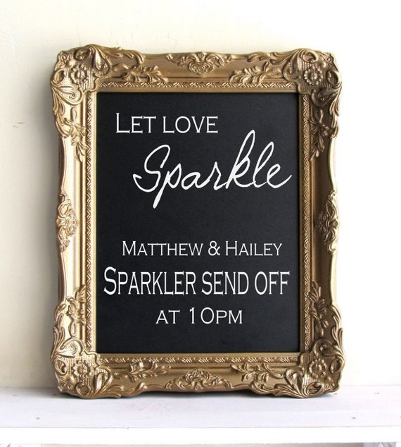 framed chalkboard wedding sign with easel sign antique gold bar menu