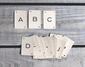 R E S E R V E D  Vintage Alphabet Cards / 1960s Paper Ephemera