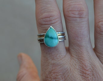 Turquoise Stack Ring Set