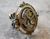 Victoriana Steampunk Ring in Brass EXCLUSIVE DESIGN