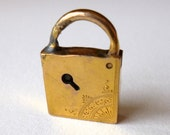 SALE Antique 10K Gold Charm Miniature Lock Padlock