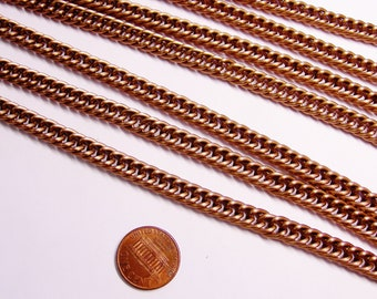Copper chain - lead free nickel free won't tarnish - 1 meter-3.3 feet made from aluminum - CA23