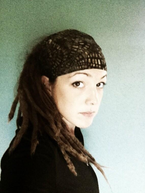 Many Paths Batik Gypsy Wrap, size M- yoga headband, hair wrap, dread wrap, pre tied bandana