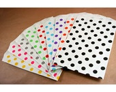 Polka Dot Paper Bag-Middy Bitty Bags-Set of 20-5 x 7.5 Bags-Favor Bags-Treat Bags