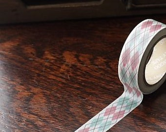 Tape-Washi Tape-Masking Tape-Single Roll-Red and Green Plaid