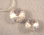 Vintage Pendent in Clear Crystals on Round Chain