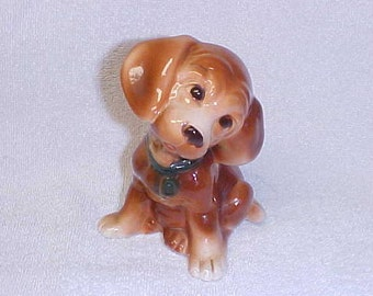 Vintage Royal Copley  Dachshund Doxie Dog  Figurine Pottery 1940's