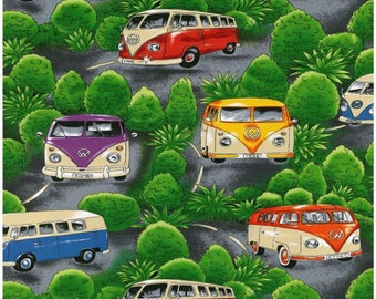 1 yd Volkswagen VW Bus Fabric