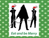 Limited supply! Walking Dead Michonne and her Pets zombie christmas card