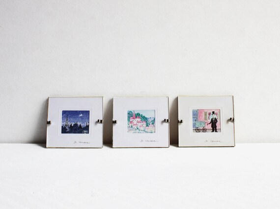 Tiny paintings, Three miniature French paintings