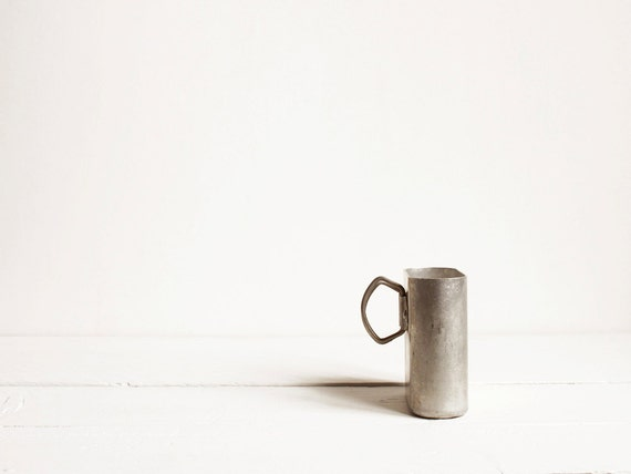 Vintage canteen cup, Aluminum French army cup