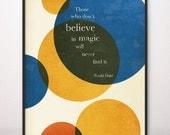 8x10 Magic Roald Dahl Art Print Circles