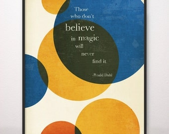 16x20 Magic Roald Dahl Art Print Circles