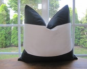 Pillow, Decorative Throw Pillow Cover, Black and Off White Wide Stripe Pillow Cover 20 x 20