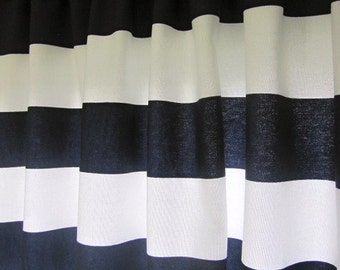 Navy and white shower curtains Etsy