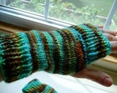 Hand Knit Women's Pure Wool Hand Warmers - Fingerless Gloves - Wrist Warmers -Warm and Soft - Beautiful Colors