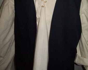 Renaissance / Pirate Boy Vest Size 13/14 Various Colors