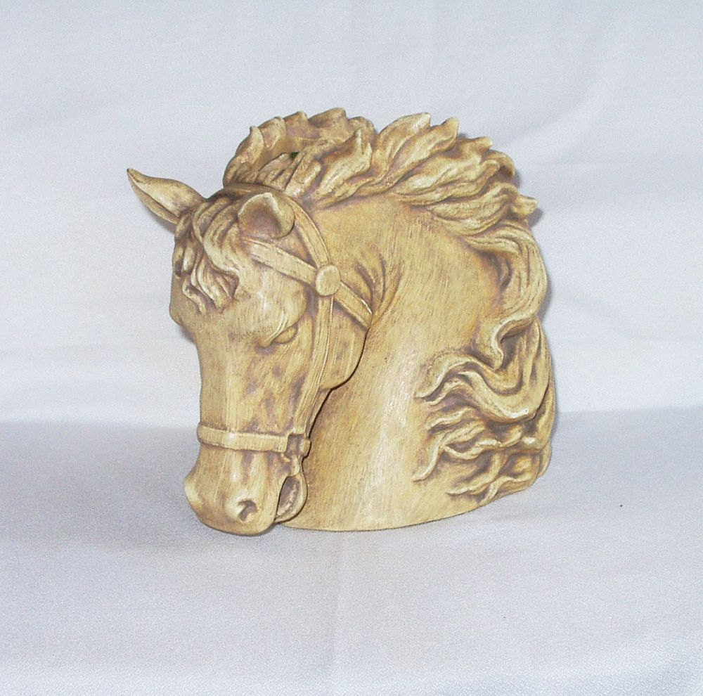 Vintage Napco Horse Head Vase Ceramic Planter by InheritedTraits