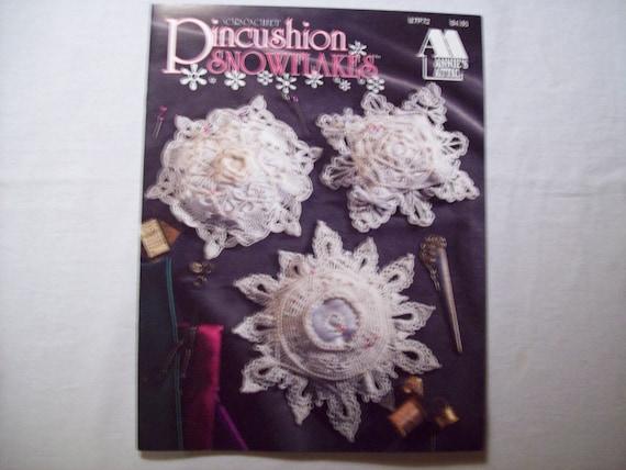 Crochet Pincushion Snowflakes, Annies Attic 87P72, Christmas Thread ...