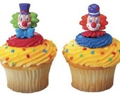 Clown Clowns Circus Carnival Cupcake Picks Toppers Decorations