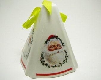 5 Vintage Christmas Ornaments Set of  Fine Porcelain Festive Fragrant pomander