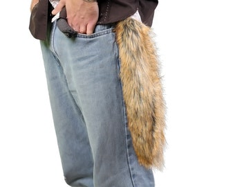Red Fox Fake Fur Tail