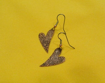 Party hearty antique copper earrings (Style #450)