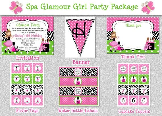 Free Printable Girls Spa Party Invitation orderecigsjuiceinfo