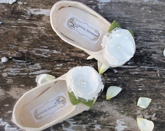 Baby Girl Shoes Toddler Shoes Soft Soled Shoes Wedding Shoes Flower Girl Shoes Spring Shoes Summer Shoes Cream Shoes Vintage-Josephine