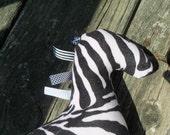 Baby toy zebra plush sensory toy - Black and white toy Baby Shower gift