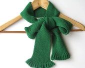 Emerald green, woman fashion bow scarf fall winter