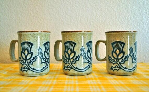 Duncan Ceramics Thistle Mugs Set of 3