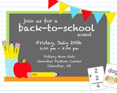 PARTY PRINTABLE - Back to School Printable Party Invitation