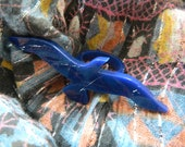 Seagull acrylic ring in silver mirror or navy