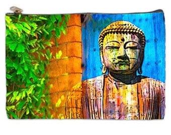 Buddha pouch, Buddha  document Bag,The Enlightened One Travel bag, Gautama Buddha Document travel bag, The Buddha cosmetic makeup bag