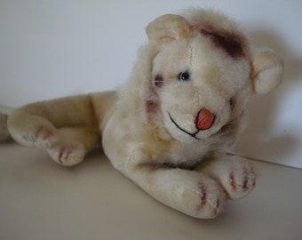 Vintage Lion Plush Stuffed Toy Japan 1960's
