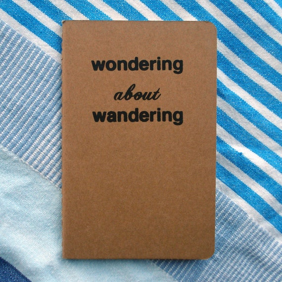 wondering about wandering moleskine notebook - black