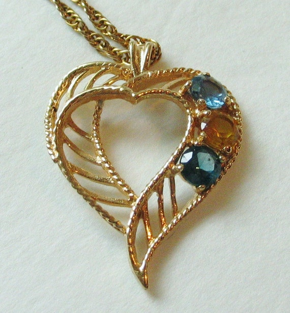 Mother grandmother 39 s birthstone necklace golden heart for Grandmother jewelry you can add to