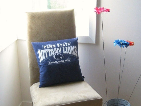 TShirt Pillow Penn State University Tee Pillow Decorative Pillow Blue White School Pillow Dorm Pillow Home Decor Throw Pillow Cotton ohzie
